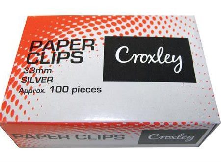 Croxley Paper Clips 33mm Silver