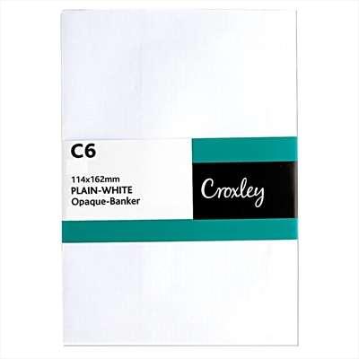 Envelopes Self Seal C6 114x162mm, White, (ENB91SE)
