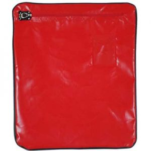 PVC Mail Bags, 380x280mm Red