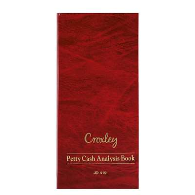 Petty Cash Book 134x297mm, JD419, 6 Columns across 2 Pages