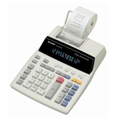 SHARP EL2901P3 12Dig 2Col Prnt & Display Calc