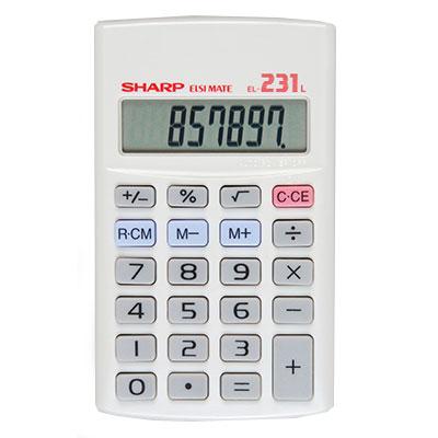 Sharp Calculator 8 Digit EL231L