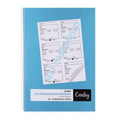 Tele Message Book A4 Croxley JD40M