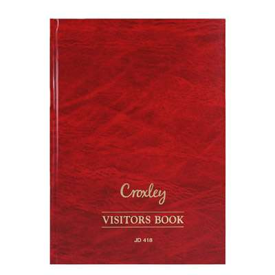 Visitors Book Red 192 pages JD418