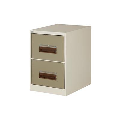 2 Drawer Filing Cabinet 710Hx470Wx630D (Ivory&Karoo)