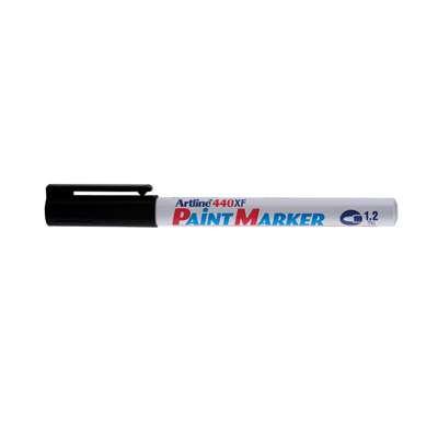 Artline 440 Paint Marker, Permanent Paint-like Ink, Fine Bullet Point (Black)