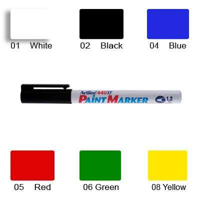 Artline 440 Paint Marker, Permanent Paint-like Ink, Fine Bullet Point (Green)