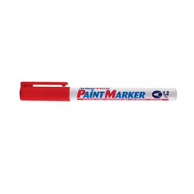 Artline 440 Paint Marker, Permanent Paint-like Ink, Fine Bullet Point (Red)
