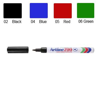 Artline 700 Marker, Permanent Ink, Fine Bullet Point (Red)