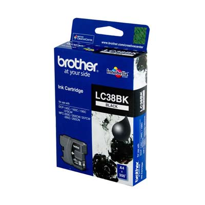 BROTHER Ink Lc-38Bk Black 300 Page Yield Lc38