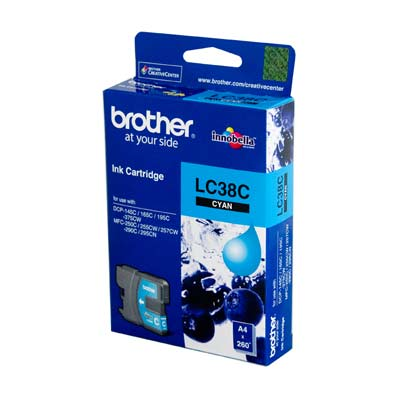 BROTHER Ink Lc-38C Cyan 260 Page Yield Lc38C