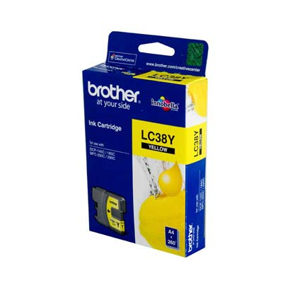 BROTHER Ink Lc-38Y Yellow 260 Page Yield Lc38