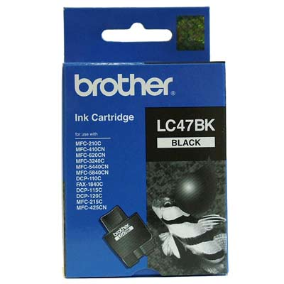 BROTHER Ink Lc-47Bk Black 500 Page Yield Lc47