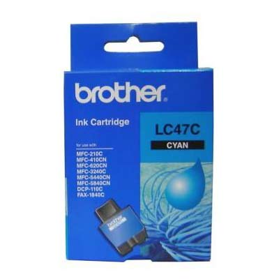 BROTHER Ink Lc-47C Cyan 400 Page Yield Lc47C