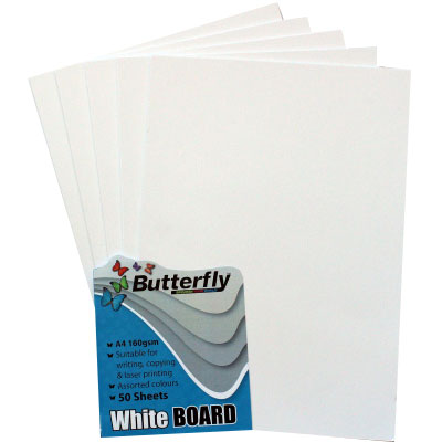 Eltoro Board, White, A4, 160gsm, Pack of 100Sheets