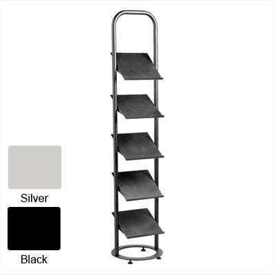 Floor Standing Brochure Holder 1980x400x420 (Krost Black)