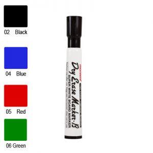 Monami Dry Erase Marker, Erasable Ink, Bullet Point (Red)
