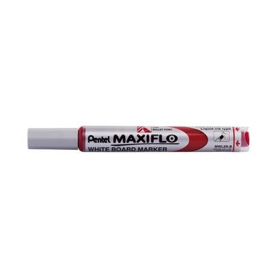 Pentel Maxiflow Whiteboard Marker, Erasable Ink (Red)