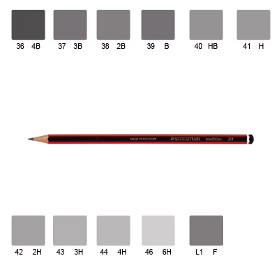 Staedtler 110 Tradition Pencil, Various Grades (3B)
