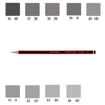 Staedtler 110 Tradition Pencil, Various Grades (B-Lead Grade)