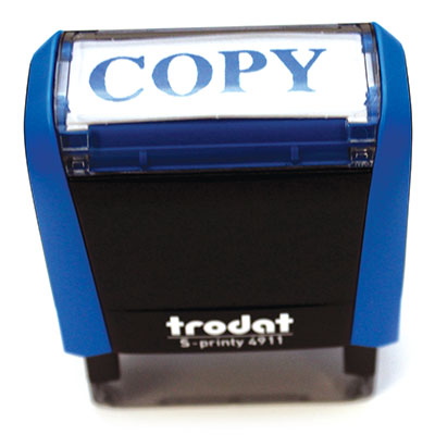 "TRODAT Rubberstamp S PRINTY Self Inking ""Copy""."