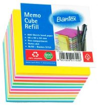 BANTEX Paper Cube Refill 90mm x 90mm B9753-07
