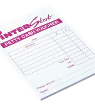 Interstat Petty Cash Pad