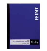 Pen Carbon Book A4 Plain 100pg JD55