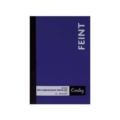 Pen Carbon Book A5 Plain 100pg JD222