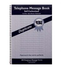 Telephone Message Book, RBE, 400 Dup, NCR FO171