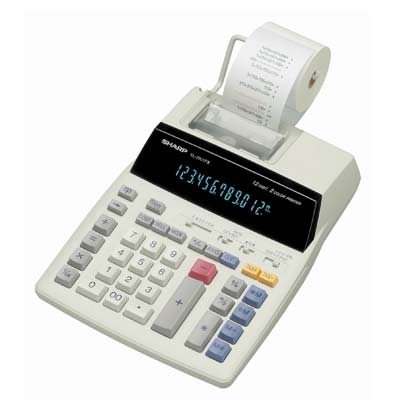 SHARP EL2901P3 12Dig 2Col Prnt & Display Calc