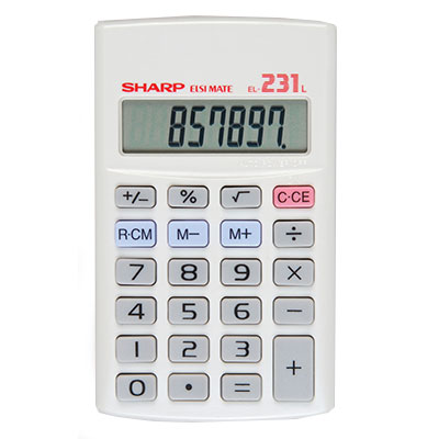 Sharp Calculator 8 Digit EL231L