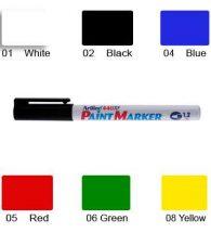 Artline 440 Paint Marker, Permanent Paint-like Ink, Fine Bullet Point (White)