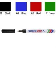 Artline 700 Marker, Permanent Ink, Fine Bullet Point (Red)