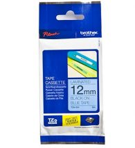BrotherLabelling Tape 12mm x 8m Blk&Blue TZ531