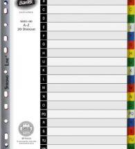 Bantex Manilla Board A4 Divider B6043 A-Z Div