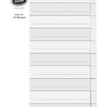 Bantex Manilla Board A4 Divider B6050 10Part