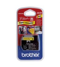 Brother Label Tape P-Touch 12mmx8m Blk&Yellow MK631B