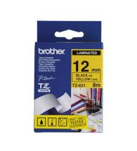 Brother Label Tape P-Touch TZe631 12mmx8 m Black on yellow