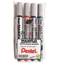 PENTEL Maxiflow MWL5S-4 Whiteboard Markers