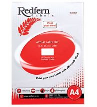 Laser Redfern Labels, 38.1x21.2mm, 65 Per Page