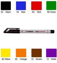 Stabilo Over Head Projector Marker, Non Permanent, Fine Point, (Black)