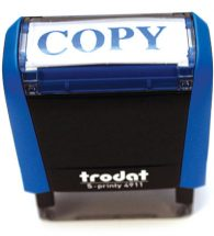 "TRODAT Rubberstamp S PRINTY Self Inking ""Copy""."