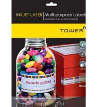 Tower Ink-Jet Laser Labels 64X33.9mm A4