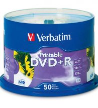 Verbatim DVD+R 16x 4.7GB Printable (50)