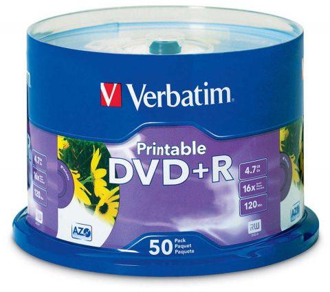 Verbatim DVD+R 16x 4.7GB Printable (50)